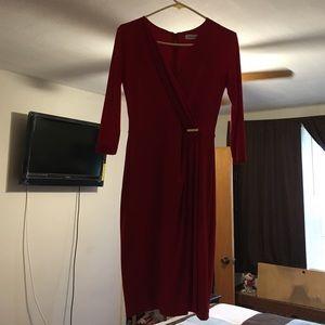 Calvin Klein red semi formal/evening dress