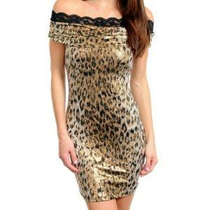 Sexy Animal Print Dress NWOT