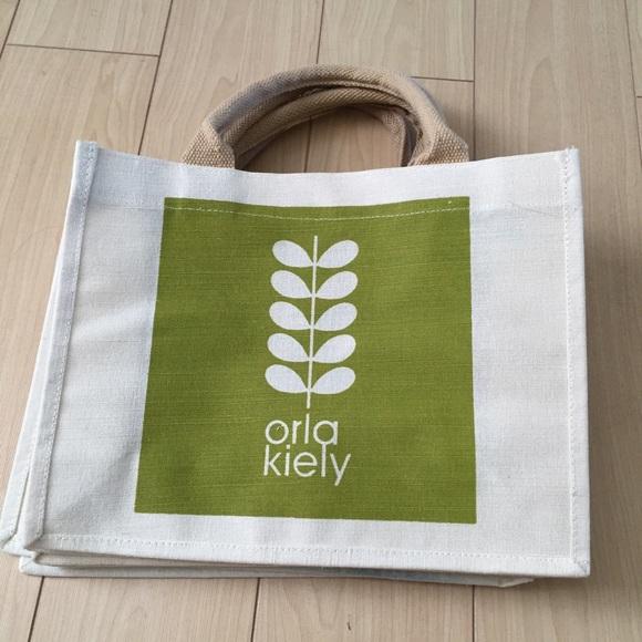 NEUF ORLA KIELY Lot de 3 petits jute réutiliser Sacs Shopping