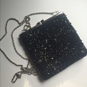 La Regale Handbags - Black Sequin Evening Bag