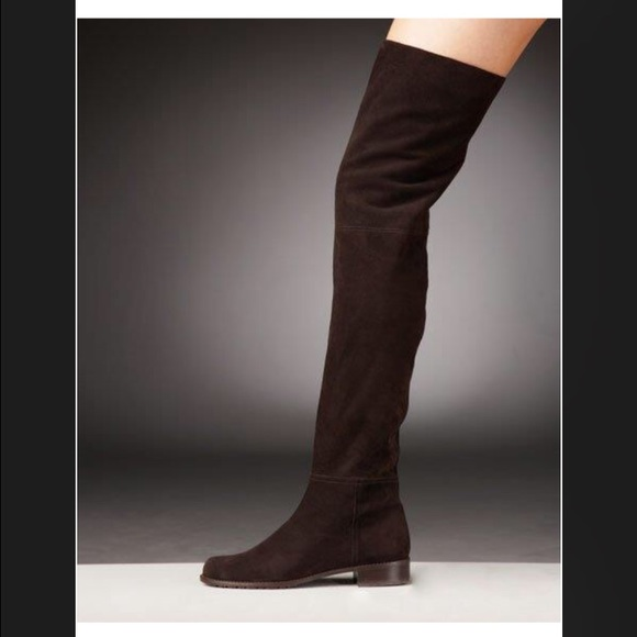 8d789933f72 Stuart Weitzman over the knee suede boots cola. M 56fd54f2fbf6f91a690057c6