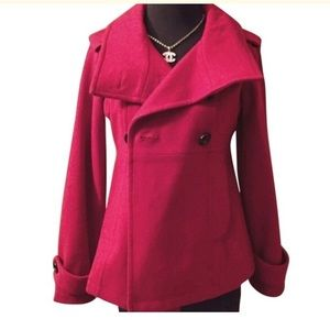 Red wool 3/4 jacket ~ GAP