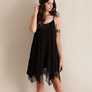 "LAST ONE ""Notice"" Lace Hem Mini Dress"