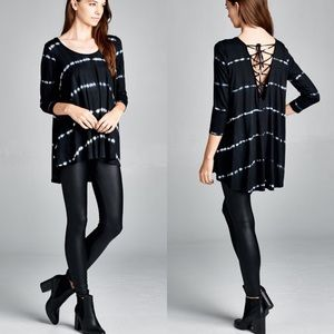 "Bare Anthology Tops - ""Divine Comedy"" Lace Up Back Tie Dye Top"