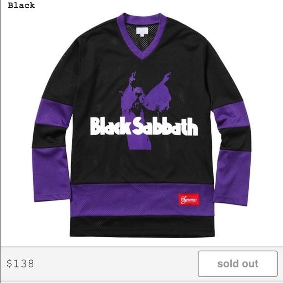 Black Sabbath Christmas Sweater.Supreme X Black Sabbath Hockey Jersey Nwt