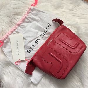 See by Chloe Handbags - See by Chloe red cosmetic pouch