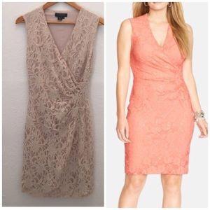 Ralph Lauren Black Label Dresses & Skirts - Ralph Lauren Lace Sleeveles Surplice Sheath Dress