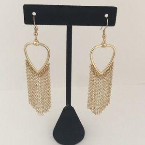 Guitar pick chain earrings