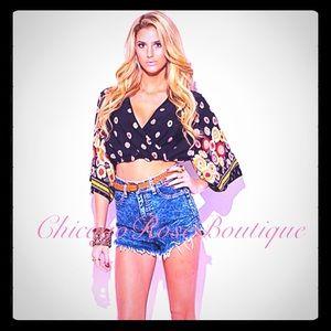 ✨Boho chic Kimono crop top