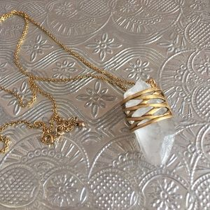 Urban Outfitters quartz necklace