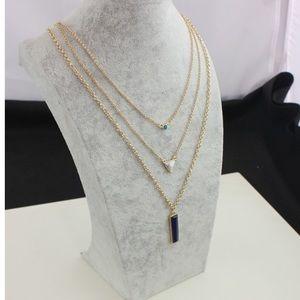Jewelry - Trendy 🎀Three layer stone necklace