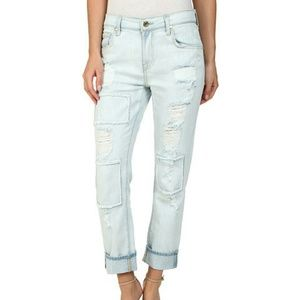 7 for all Mankind Denim - 7 For All Mankind Distressed Boyfriend Jeans