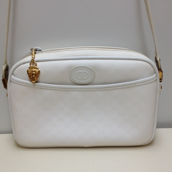 a19a5fbd027 Gucci Handbags - GUCCI vintage White coated canvas authentic