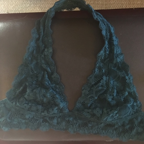 f53db56b4ae Free People Other - FREE PEOPLE GREEN LACE HALTER BRALETTE