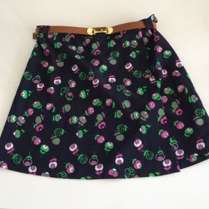 Topshop belted mini skirt size US 6