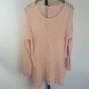 Poof! Sweaters - Peach Tunic Sweater