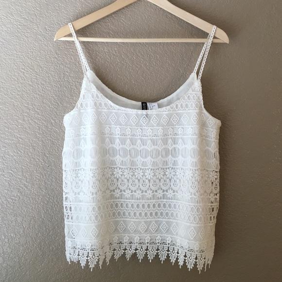 1771195db4205 H M Tops - FLASH SALE ✨H M festival crochet crop top tank