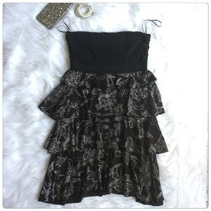 Express Dresses & Skirts - Final Price‼️Strapless  Black and White Mini Dress