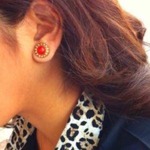Gigi Stud Earrings, Orange, Stella & Dot