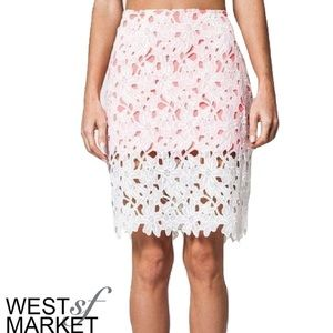 West Market SF Dresses & Skirts - -SALE- 🎉Two-Tone Lace Skirt