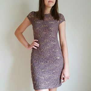 Chelsea & Violet Dresses & Skirts - {Chelsea & Violet} Gold Sequin Lace Fitted Dress