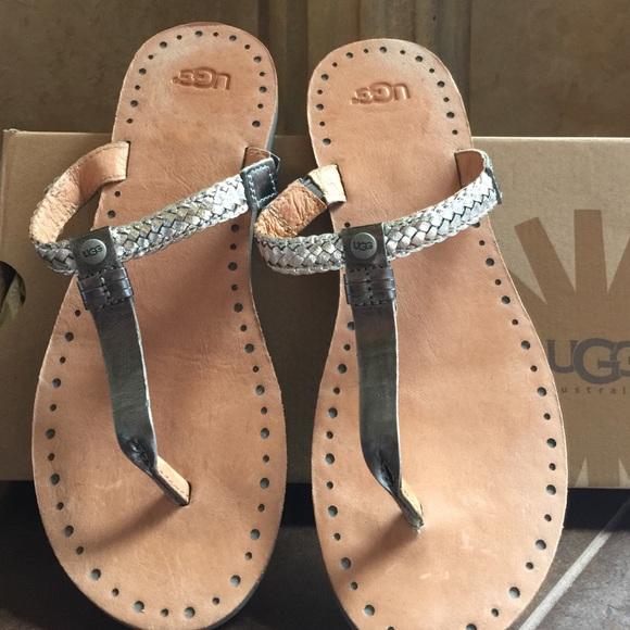 b718a28e516 UGG Bria silver sandals size 8