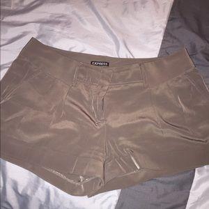 Express Olive Green Cuffed Shorts Sz 12