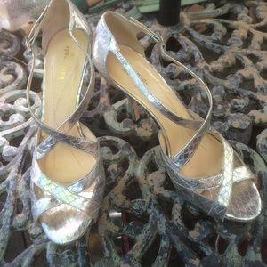 Kate Spade Silver Strappy Heels