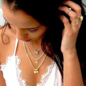 Jessica Elliot Jewelry - {Jessica Elliott} 18k GP Double Chain w/ Pearl