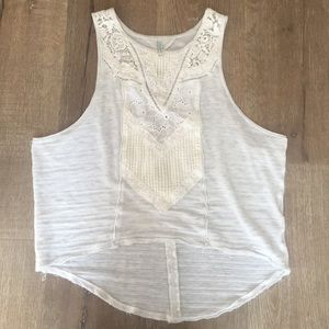Free People Tank Top w/ Crochet Detail