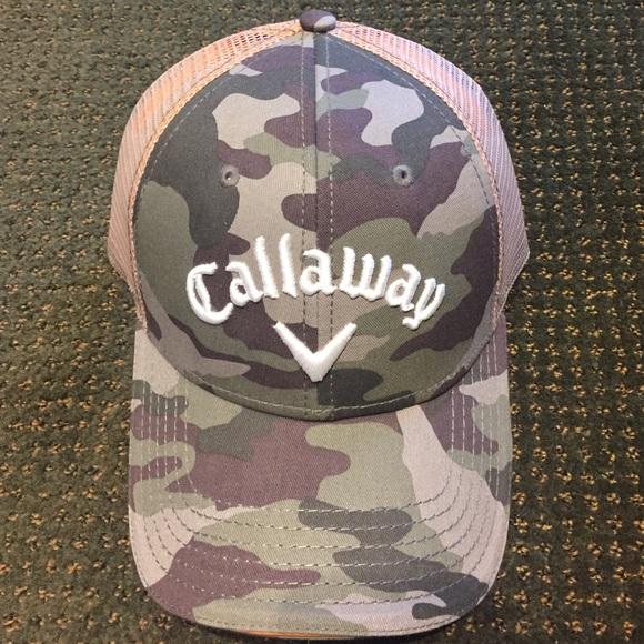 Callaway Golf camo snap back trucker hat NWT c1da1cd0d