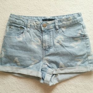 Forever21 Denim Number High Waisted Shorts 24