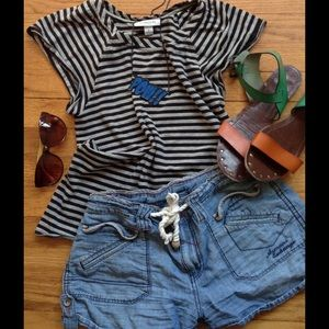 Thakoon Tops - THAKOON For Target Striped Tee w/ Flutter Sleeve S