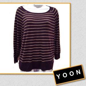 Yoon Sweaters - ❄️️Winter Clearance❄️Yoon striped sweater