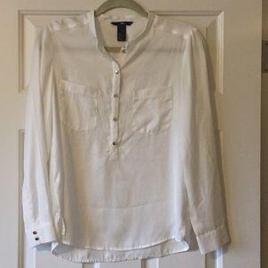 H&M button down white blouse sz6