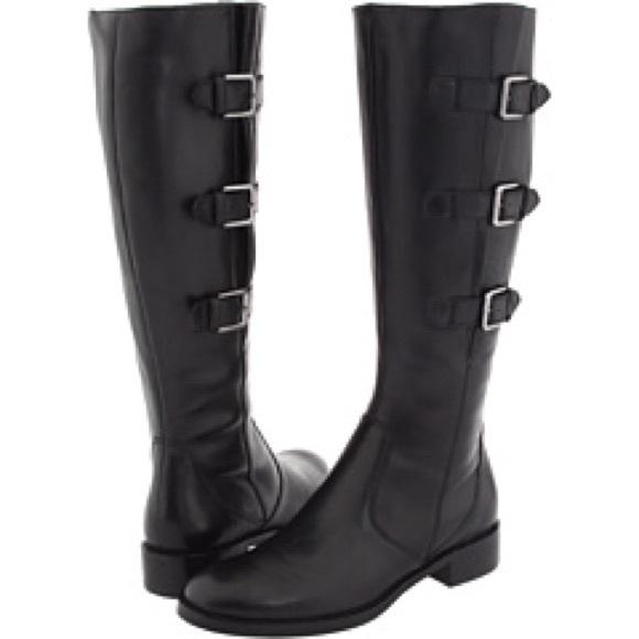 Black Ecco Hobart Buckle Boot