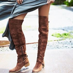 Charles David Shoes - Charles David 'Giana' brown over-the-knee boots