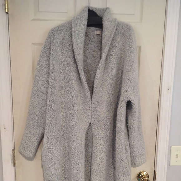 75% off Ann Taylor Jackets & Blazers - Loft Boucle sweater coat ...