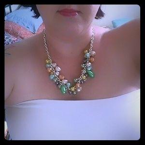 Fun Pier 1 Pearl Beads Necklace & Earrings