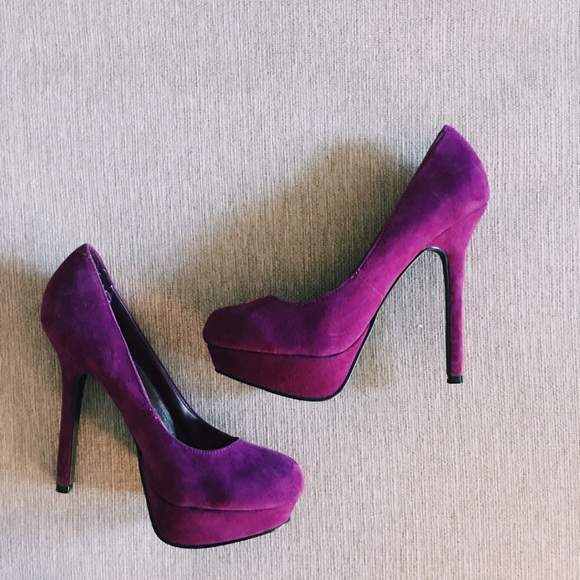 73% off Cathy Jean Shoes - Cathy Jean Deep Purple Heels (Size 8.5 ...