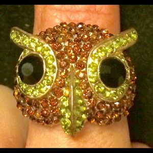 Jewelry - Precious owl statement ring with a lot of BLING