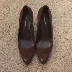 Banana republic brown pumps heels