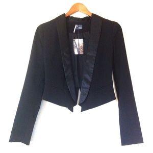 Sparkle & Fade Black Crop Blazer