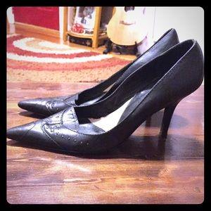 Gianfranco Ferre Shoes - Gianfranco Ferre black leather stilettos