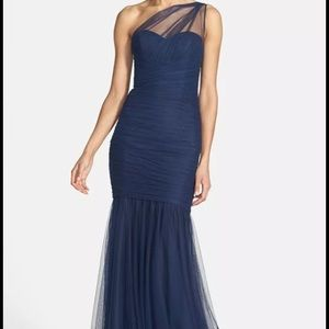 REDUCED! Bridesmaid Prom Navy Amsale Gown Dress