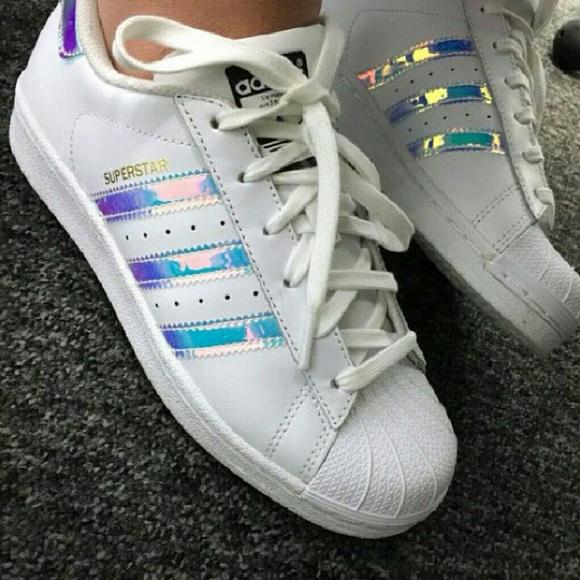 adidas adidas superstar hologram iridescent sneakers from tinna 39 s closet on poshmark. Black Bedroom Furniture Sets. Home Design Ideas