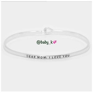 Dear Mom: I Love You Bracelet