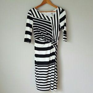 Sangria Dresses & Skirts - {Sangria} Black & White Striped Dress