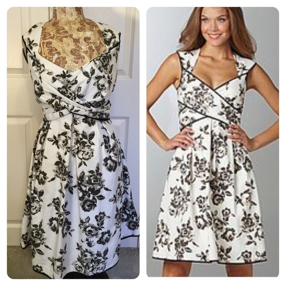 80 off jessica simpson dresses black and white floral dress poshmark jessica simpson black and white floral dress mightylinksfo