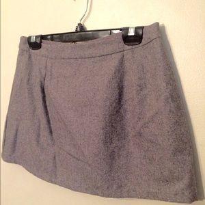 Wool blend grey mini skirt